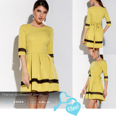 Платье кружевной декор