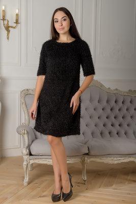 Стильное черное платье Тедди