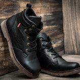 Мужские зимние ботинки Ботинки LEVI'S кожа На Меху