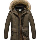Теплая, удлиненная зимняя куртка 2 цвета AL7864