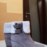 Замшевые ботинки на платформе Janet Sport