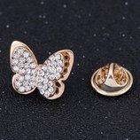 Необыкновенно красивая брошь Маленькая бабочка
