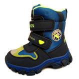 Зимние термо ботинки сапоги для мальчика Размеры 23,24,25,26,27,28.