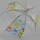 Зонт для девочки зонтик детский прозрачный купольный Принцесса Барби Белоснежка