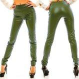 Стильные женские кожаные брюки-леггинсы Кожа Классика в расцветках.