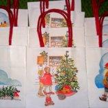 Новогодние пакеты для подарков на елку.Ручная работа.Германия