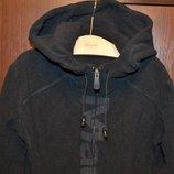 Теплая флисовая кофта с капюшоном р.XS