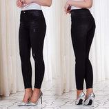 Стильные женские джинсы американка с завышенной посадкой 12759 Чёрный.