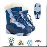 Теплющие зимние сноубутсы для деток, р.24-25