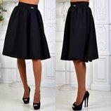 Стильная женская юбка средней длины 052 Габардин Миди в расцветках.