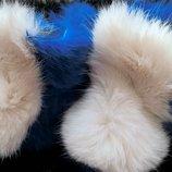Детские тапочки-сапожки с натурального меха