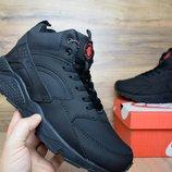Кроссовки зимние Nike Huarache black