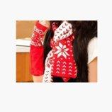 Зимняя шапка, шарф и Рукавички-Митенки 3 цвета AL7971