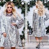 Вечернее платье пайетка размеры 46-56