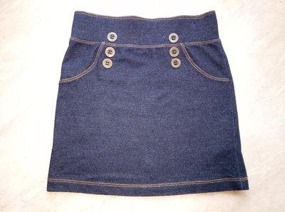 c7480e85902 Юбка трикотажная под джинс фирмы George для девочки 5-6 лет рост 110-116см