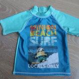 Футболка детская для купания 4-5 лет 110 см Minion лето море