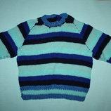 Очаровательный вязаный полушерстяной свитер до 5лет