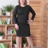 Платье полубаталл Размеры 50 52 54