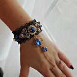 Оригинальный браслет с кристаллами