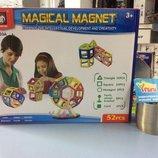 Магнитный конструктор Magical Magnet музыка, свет 703A 52 детали