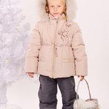 Куртка зимняя для девочки 3-6 лет - Ваниль