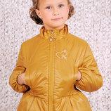 Куртка демисезонная для девочки 5-8 лет - Горчица