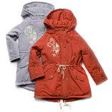 Куртка-Парка демисезонная для девочки 5-8 лет