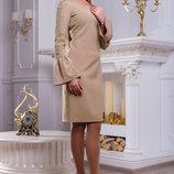 Утонченное платье кофейного цвета 44-50р