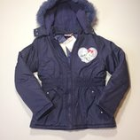 Зимняя детская куртка Charmmy kitty на девочку 9-10 лет, рост 131-143