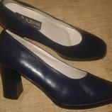 7.5-25 см кожа новые синие туфли Axxess