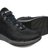 Зимние мужские кожаные ботинки Ecco Blue