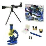 Телескоп с микроскопом C2110/2111 с аксесуарами 2в1 научные игры эксперименты