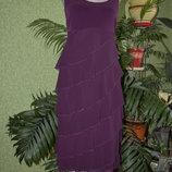 Шикарное нарядное платье сиреневого цвета