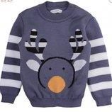 свитер детский джемпер пуловер новогодний, Олень, р86-104