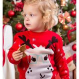 свитер детский джемпер новогодний Рудольф, р86-104