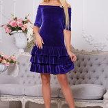 Великолепное платье в цвете электрик 42-44р