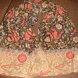 шарф шаль платок The Metropolitan Museum оригинал винтаж шелк Италия 42Х155 идеал