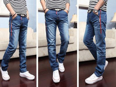 Стильные мужские джинсы прямого покроя Fold AL8409
