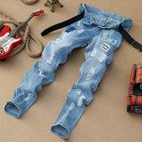 Модные рваные Мужские джинсы Sky AL8407