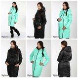 Распродажа размер S M.Куртка для беременных, двухсторонняя, мятная, S M