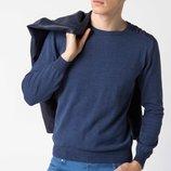 насыщенно-синий мужской свитер De Facto