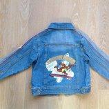 Пиджак детский синий Дисней 116 см сток новый Disney Дисней тигра винт пух нашивка вышивка модный
