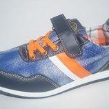 Джинсовые туфли кроссовки с Кожаной стелькой и Супинатором для девочек и мальчиков 32р.-37р