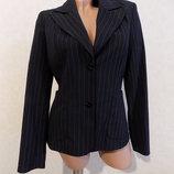 Пиджак черный в полоску фирменный Watcher размер 44