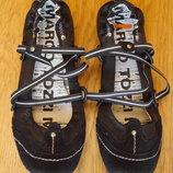 Туфлі екозамш розмір 38 стелька 23,5 см маломерки Marco Tozzi