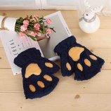 Женские перчатки без пальцев Kitty 2 цветаAL5005