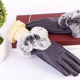 Перчатки женские Fur 2 цвета AL5001
