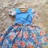 Платье синие с карманами