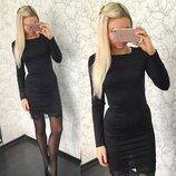 Платье черное с кружевом 44 размер