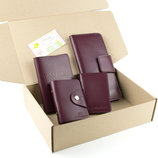 Подарочный набор 11 4 цвета - обложка на паспорт, права, картхолдер, кошелек
